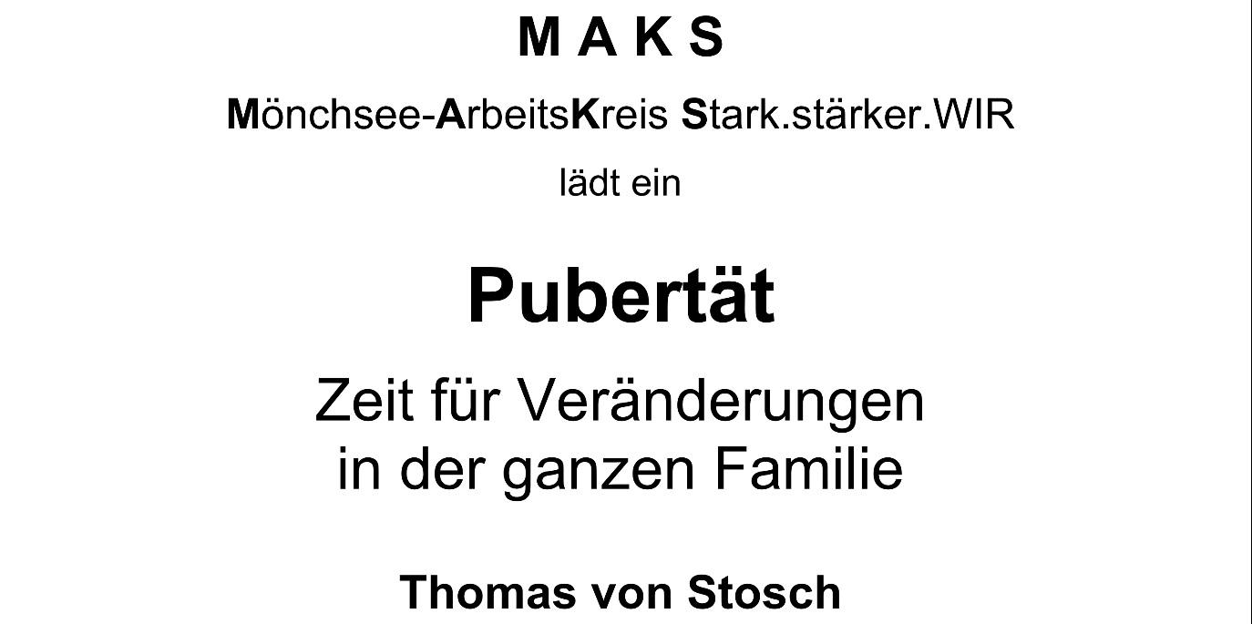 Vortrag zum Thema Pubertät